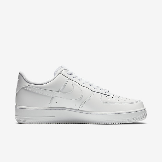 nike all white air force 1