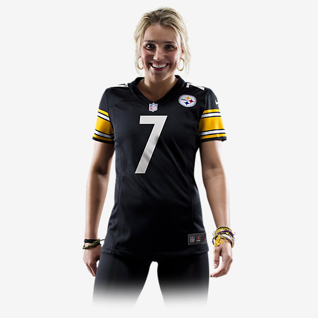 Women 2012 Pittsburgh Steelers 7 Ben Roethlisberger Zebra Field Flirt Fashion Jersey