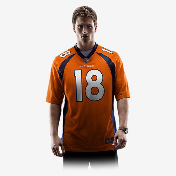 NFL Jersey's Mens Denver Broncos Peyton Manning Nike Orange Team Game Jersey