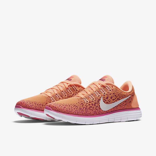 buy popular f2a26 4b31f ... nike women free rn distance running shoes atomic orange 827116 800  us5.5 8.5 04 ...