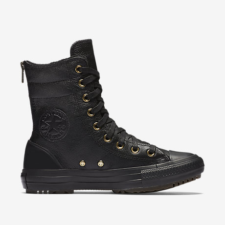 Converse Chuck Taylor All Star Leather and Faux Fur High Rise Women's Boot.