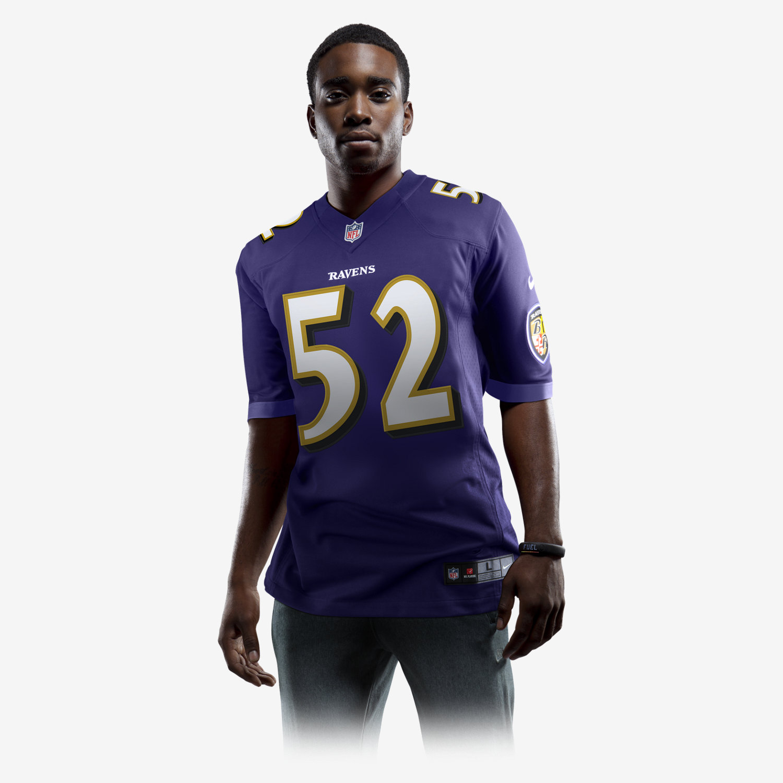 NFL Jersey's Nike Men's Baltimore Ravens Customized White Game Jersey