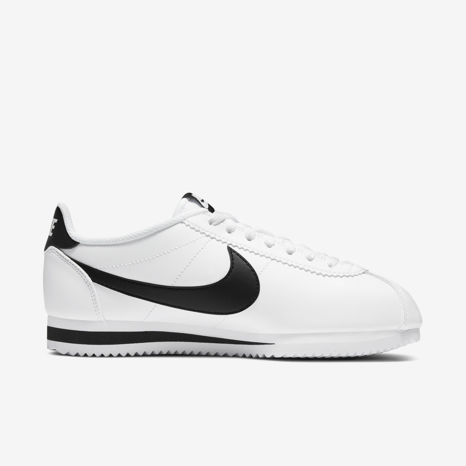 nike cortez leather white