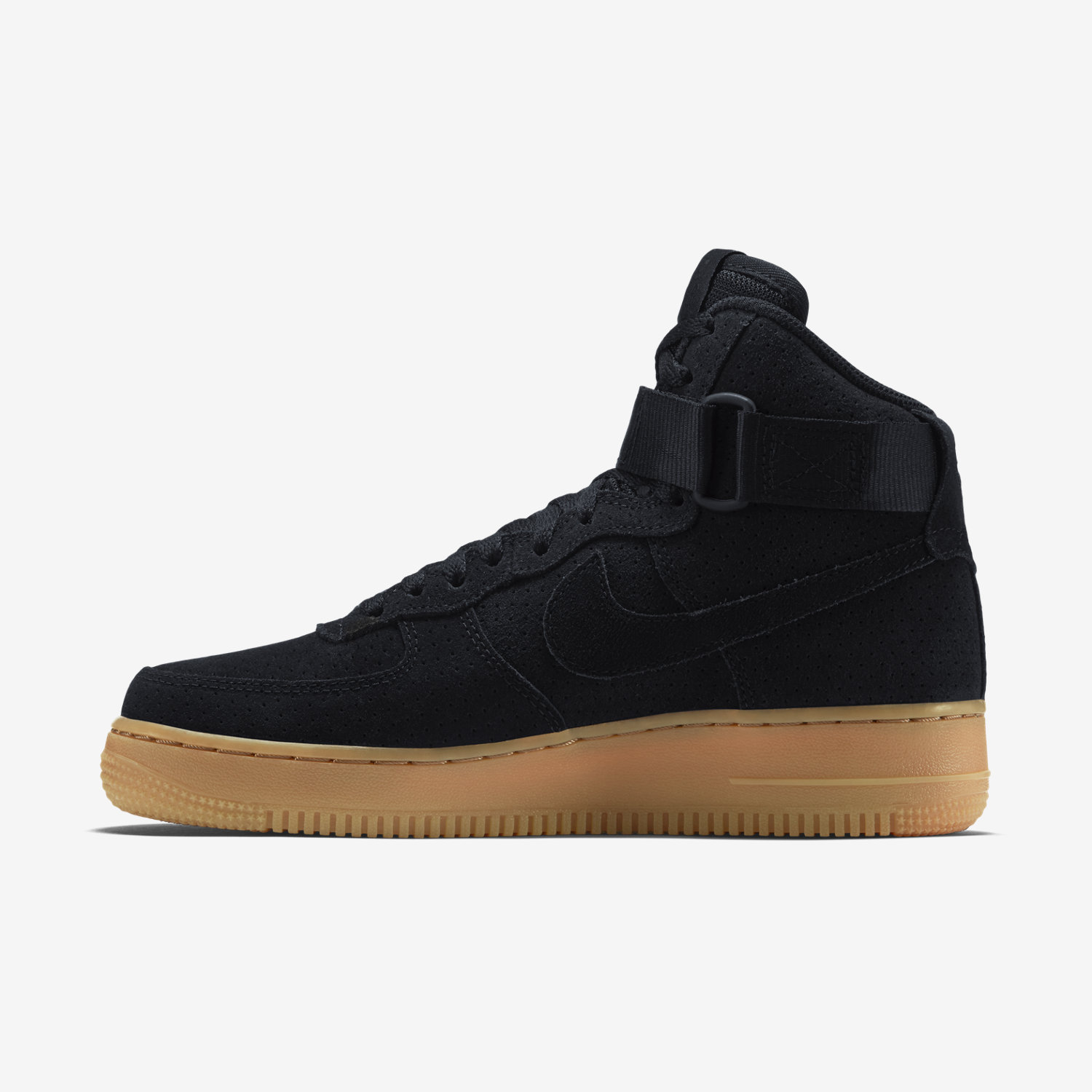 Air Force 1 Noir Semelle Marron