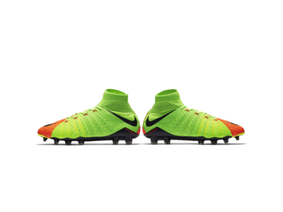 Nike Men's Hypervenom Phantom III Dynamic Fit FG Electric Green/Black/Hyper Orange