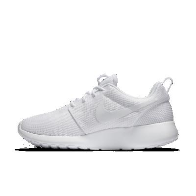 Nike Roshe Run Damen Weiß Mit Schwarzem Nike Zeichen