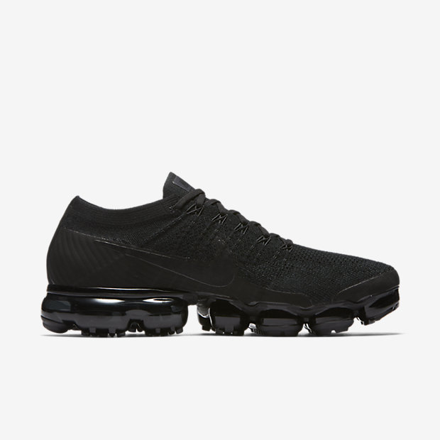 left view of mens nike air vapormax flyknit moc running shoes in ... 8e5550492