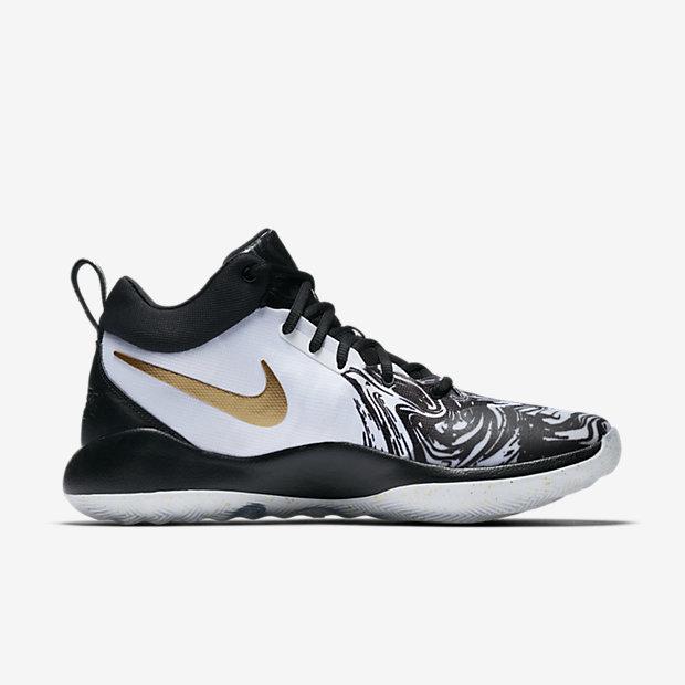 369c7c78725 nike zoom rev 2017 852422 107 mens basketball shoe white metallic gold pure  platinum black  nike zoom rev qs bhm basketball shoe. nike