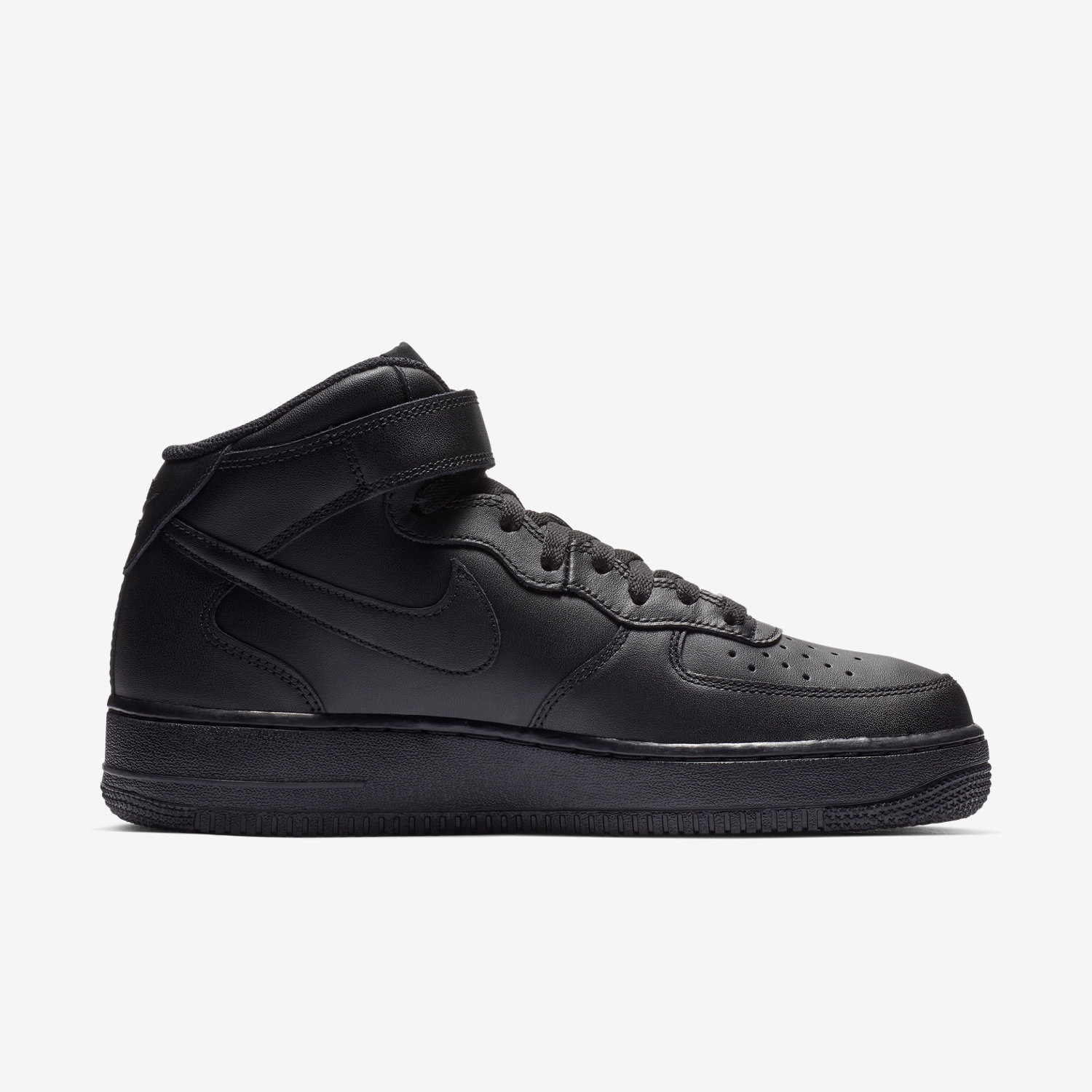 nike air force 1 mid black