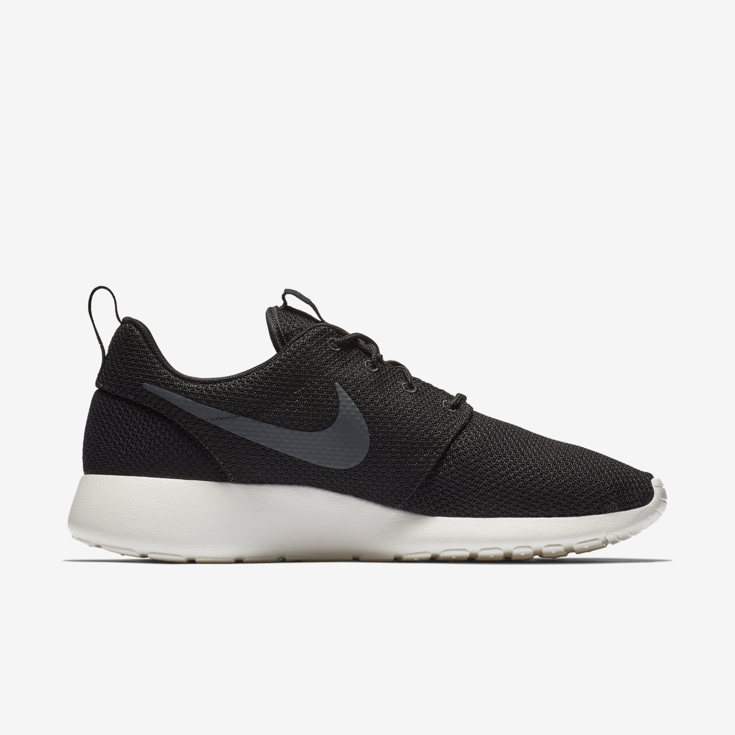 mens nike roshe run high black grey