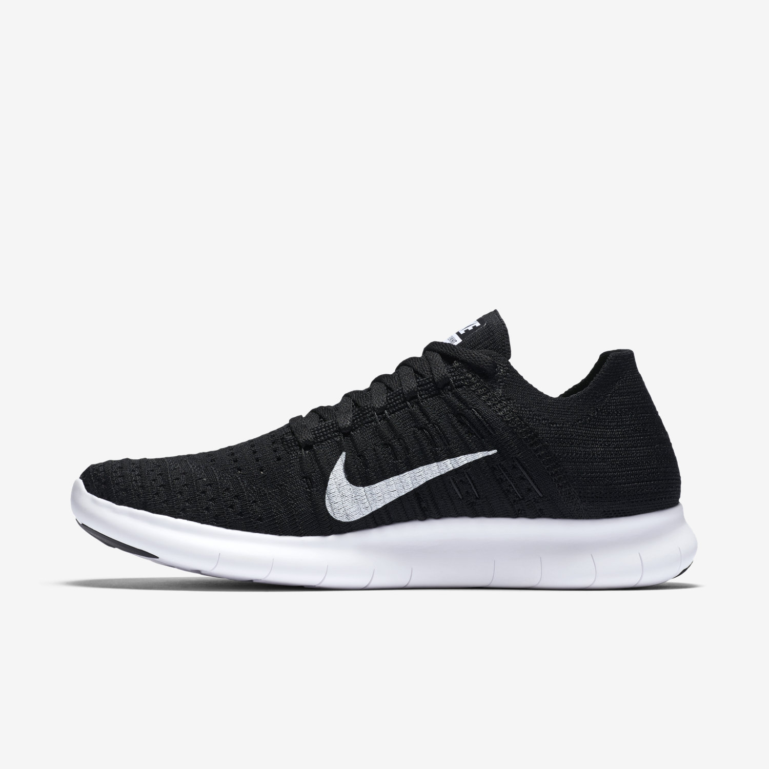 black and white nike free shoes fly knit