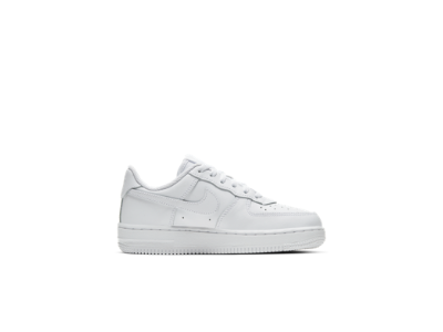 white kds nike air force 1 shoes